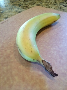 Select a premium banana with a natural left to right curvature